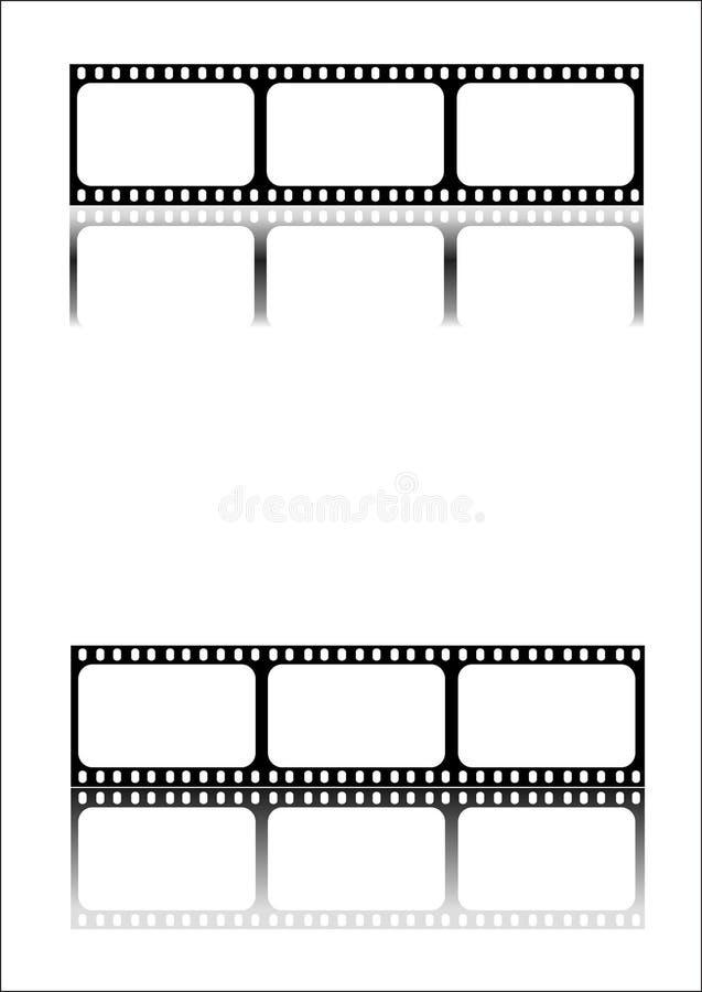 Negro de la tira de la película imagen de archivo