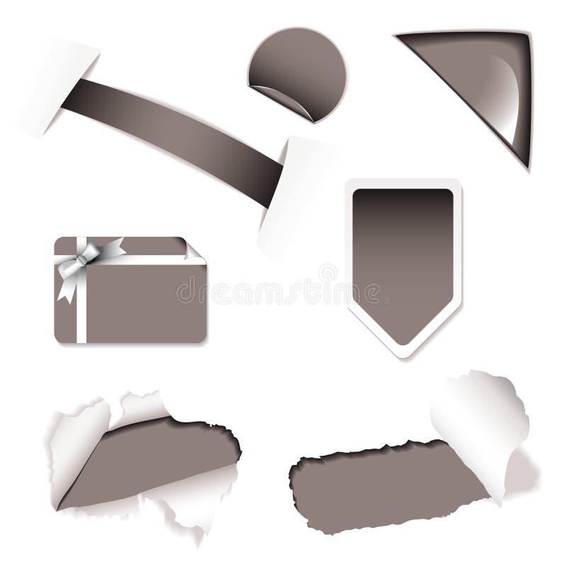 Negro de los elementos de la venta del departamento stock de ilustración