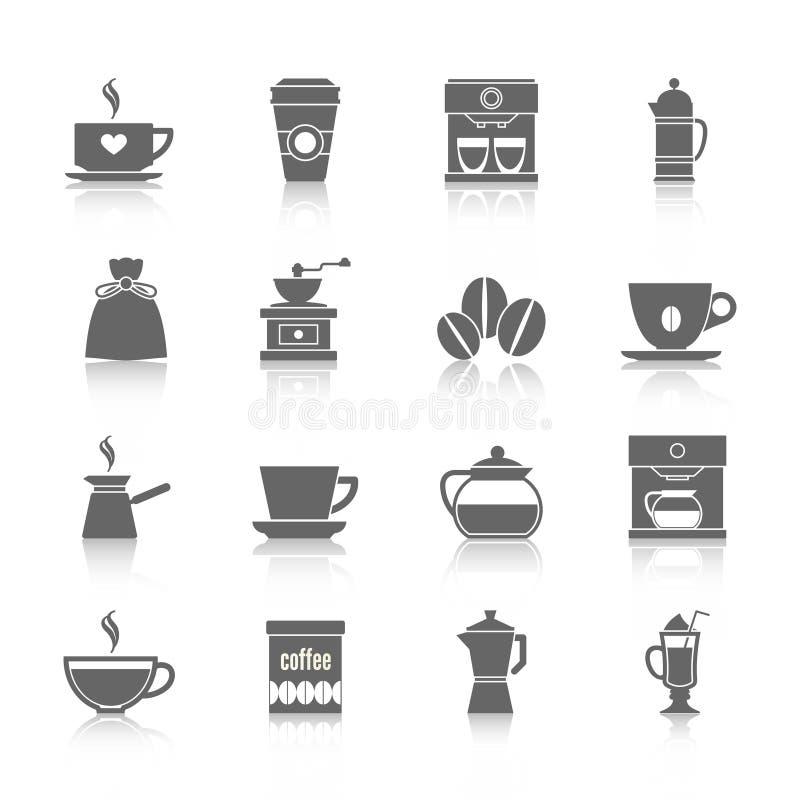 Negro de los iconos del café libre illustration