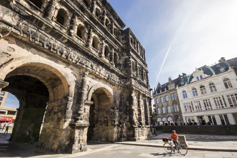 Negro de Porta, Trier, Alemanha fotos de stock