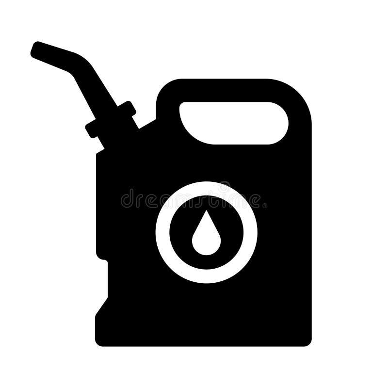 Negro del aceite del bote ilustración del vector