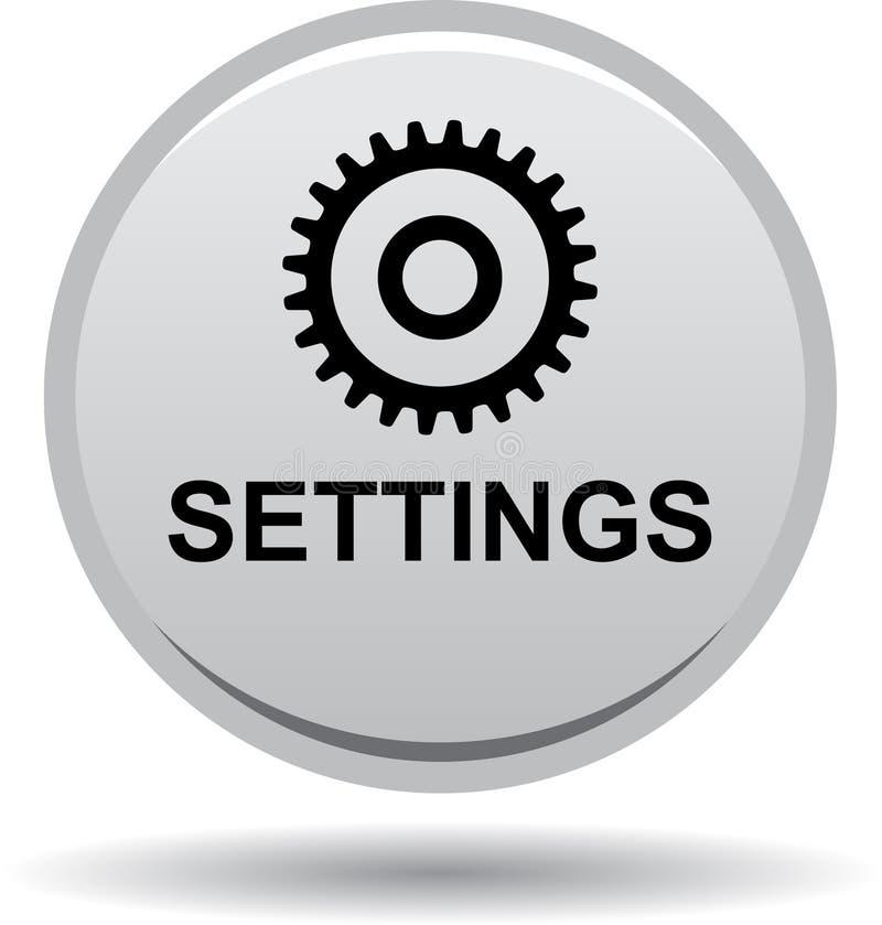 Negro del botón del web de los ajustes libre illustration