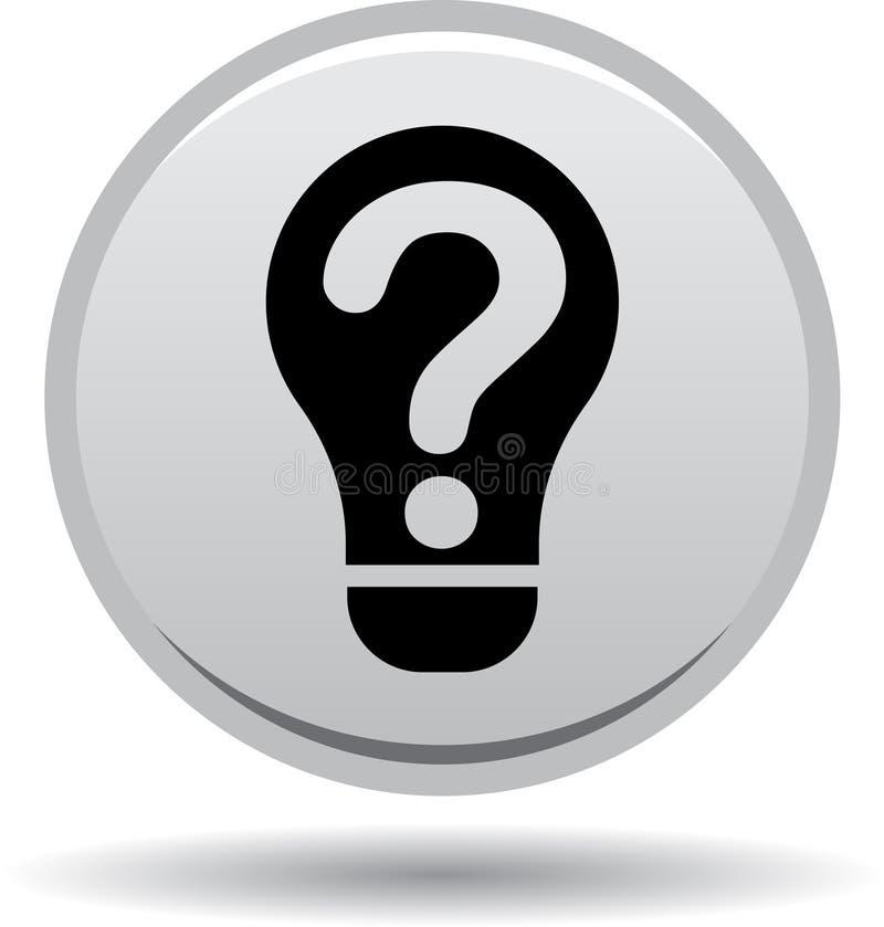 Negro del bulbo de la idea de la ayuda de la pregunta stock de ilustración