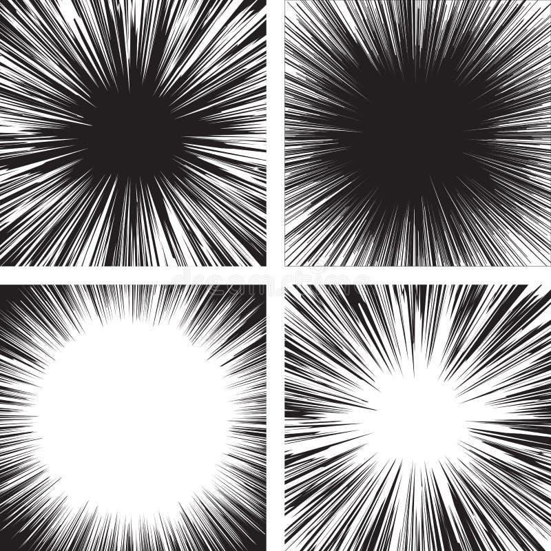Negro del cómic stock de ilustración