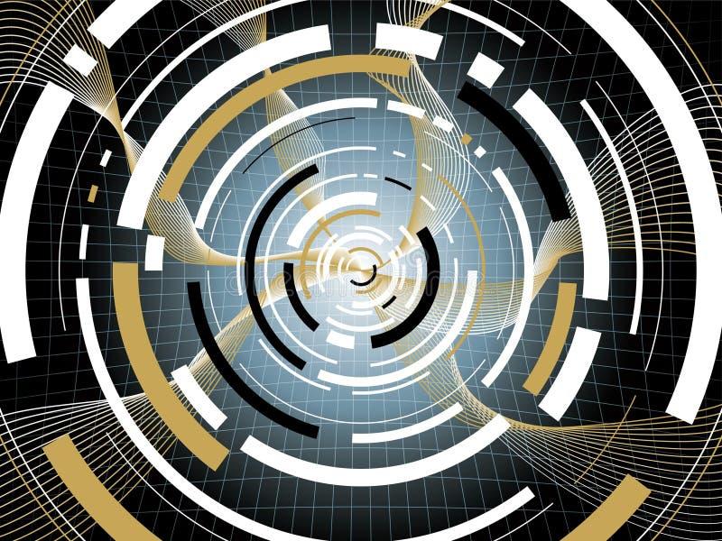 Negro del espace de Digitaces stock de ilustración