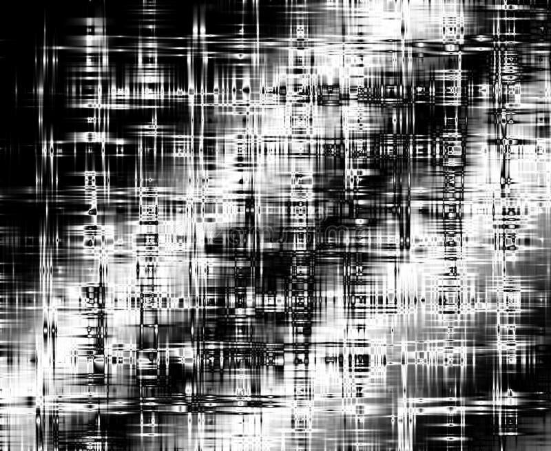 Negro del extracto con el fondo blanco de efecto luminoso ilustración del vector