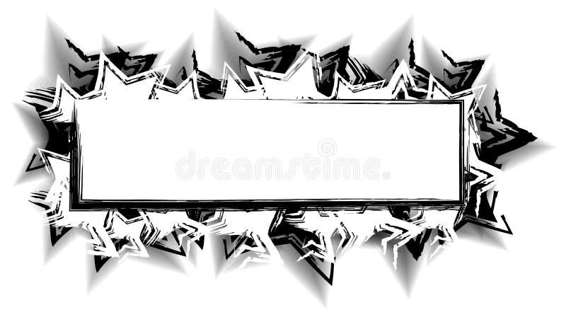 Negro del extracto de la insignia del Web page libre illustration