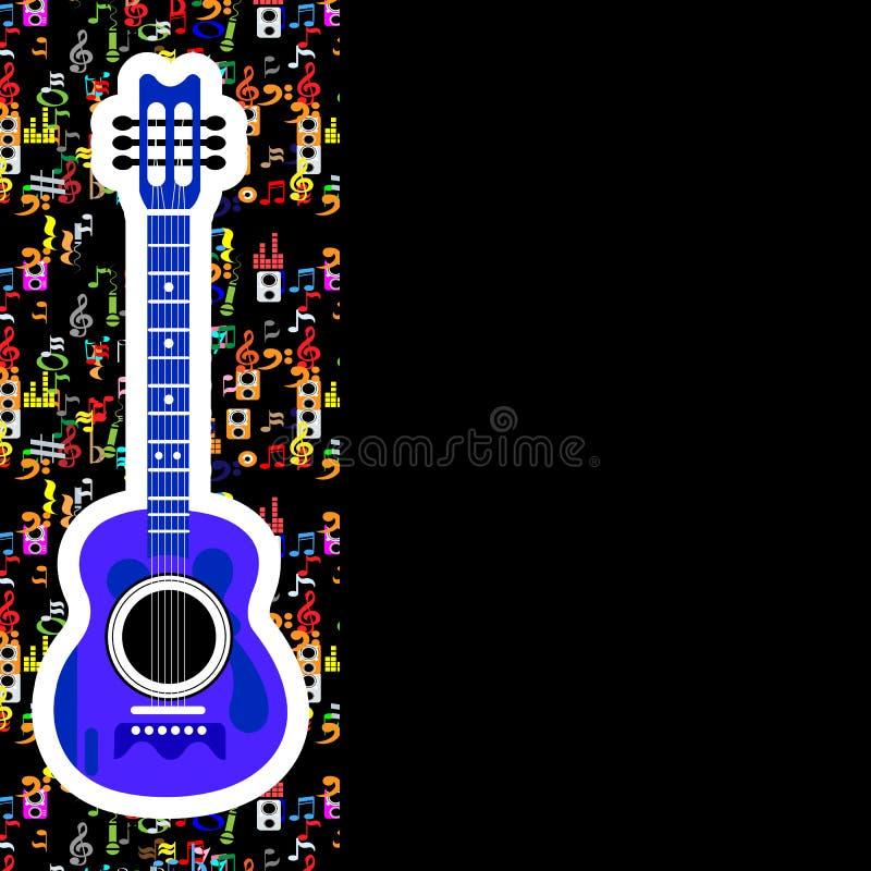 Negro del fondo de la música stock de ilustración