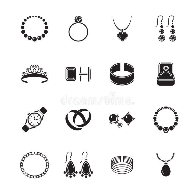 Negro del icono de la joyería