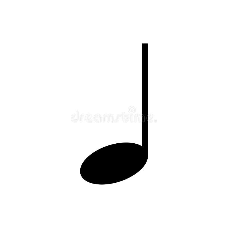 Negro del icono de la nota en el vector blanco del fondo ilustración del vector