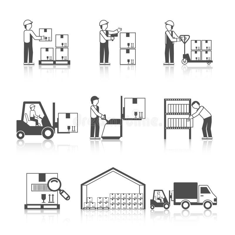 Negro del icono de Warehouse libre illustration