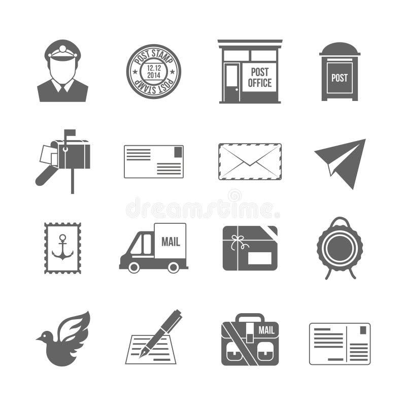 Negro del icono del servicio de los posts libre illustration