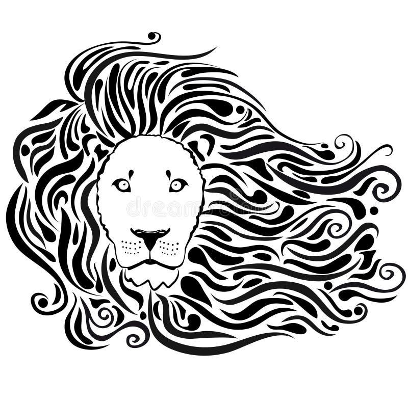 Negro del león ilustración del vector