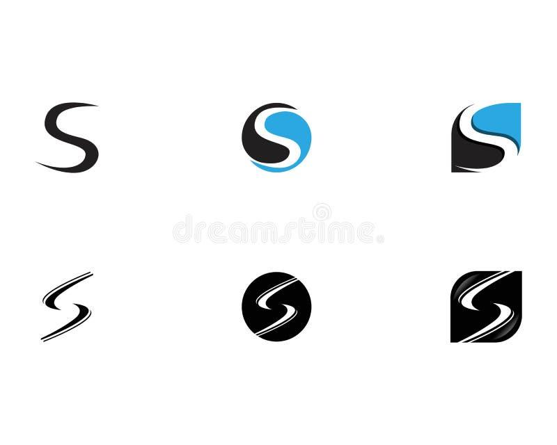 Negro del logotipo de la letra de S stock de ilustración
