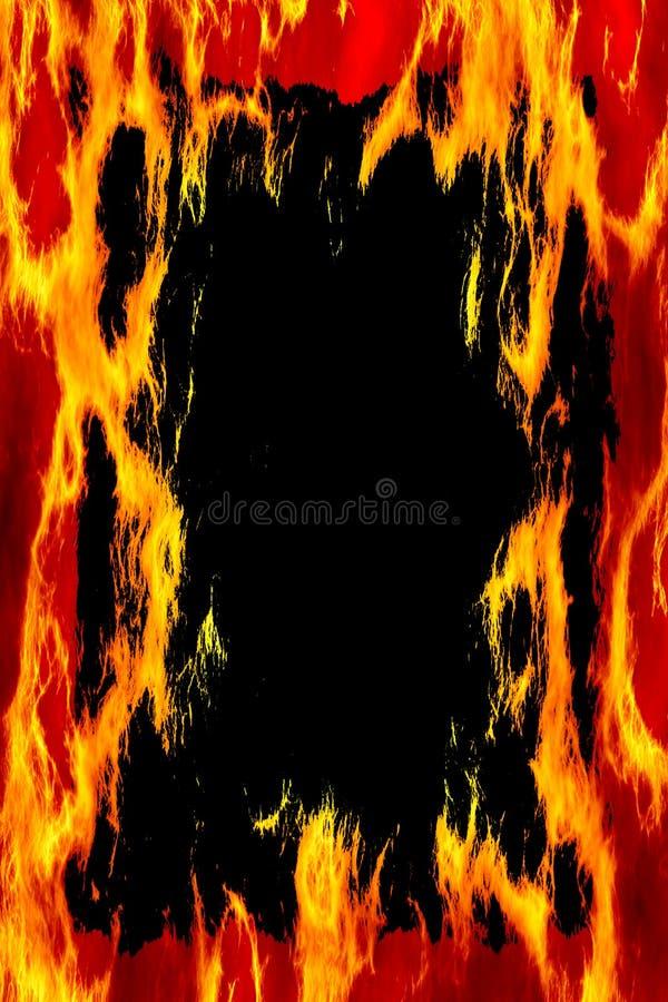Negro del marco del fuego stock de ilustración