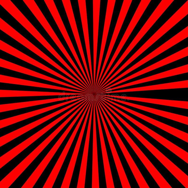 Negro del modelo del fondo de la explosión de la estrella del resplandor solar de Sun y color anaranjado fotos de archivo libres de regalías