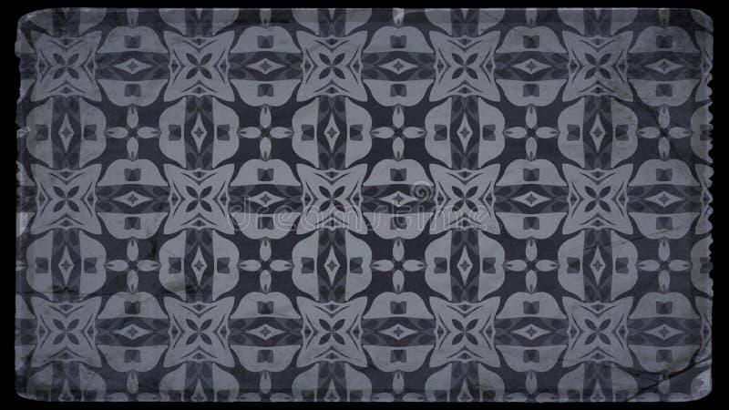 Negro e imagen de Gray Floral Vintage Pattern Background libre illustration