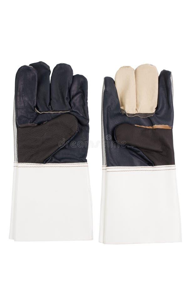 Negro - el blanco guante protege/de la seguridad foto de archivo