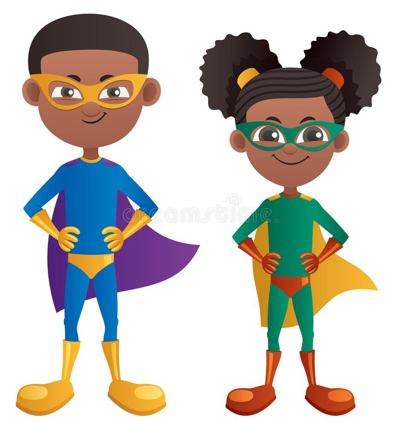 Negro estupendo de los niños libre illustration