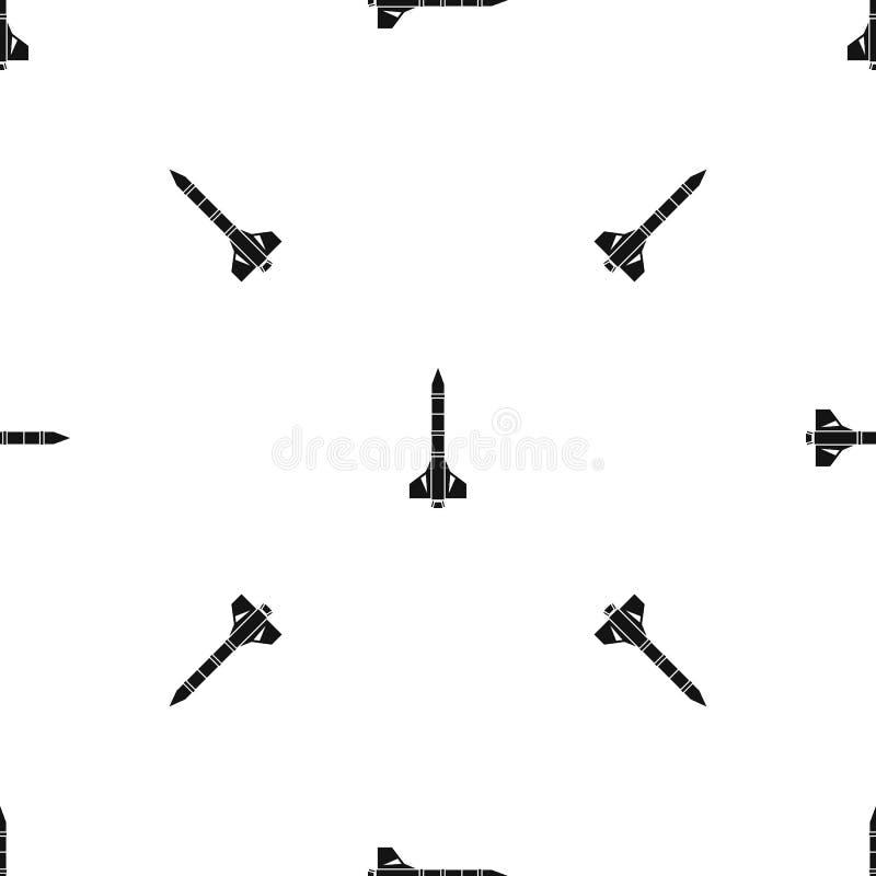 Negro inconsútil del modelo atómico del cohete libre illustration