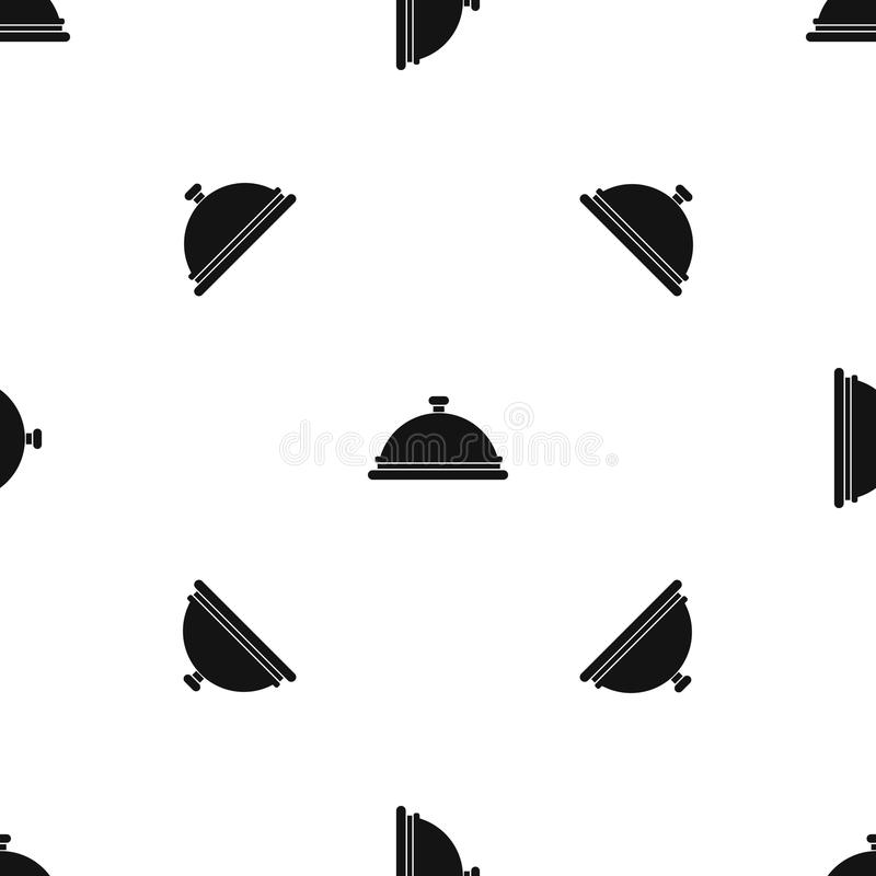 Negro inconsútil del modelo de la campana de cristal del restaurante libre illustration