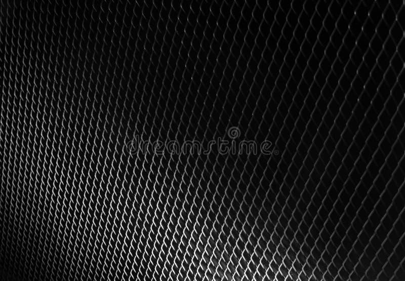 Negro negro de la textura del modelo del fondo del metal fotografía de archivo libre de regalías