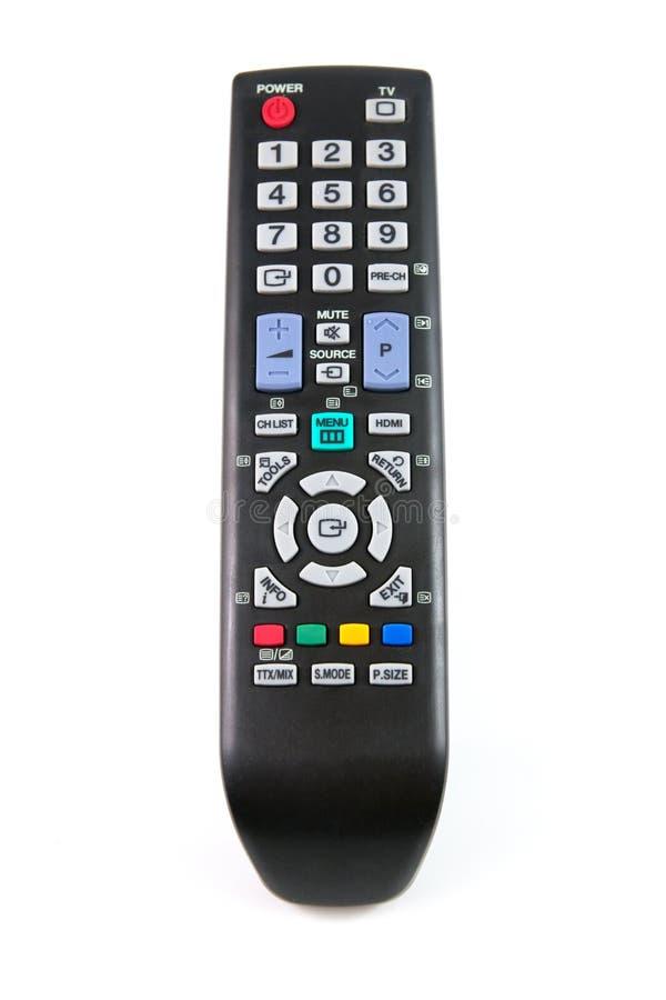 Negro teledirigido del telclado numérico de la TV fotografía de archivo libre de regalías