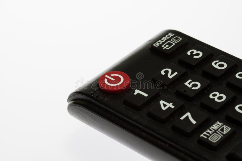 Negro teledirigido del telclado numérico de la TV imágenes de archivo libres de regalías