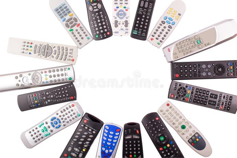 Negro teledirigido del telclado numérico de la TV foto de archivo