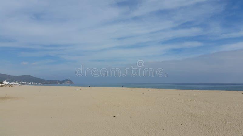 Negro Tetouan de Cabo da areia fotografia de stock royalty free