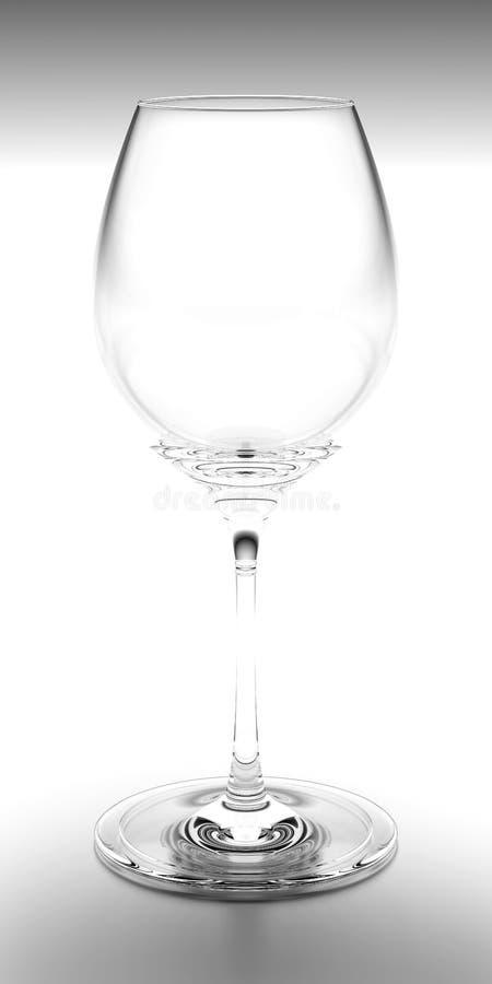 Negro y blanco del vidrio de vino fotografía de archivo libre de regalías