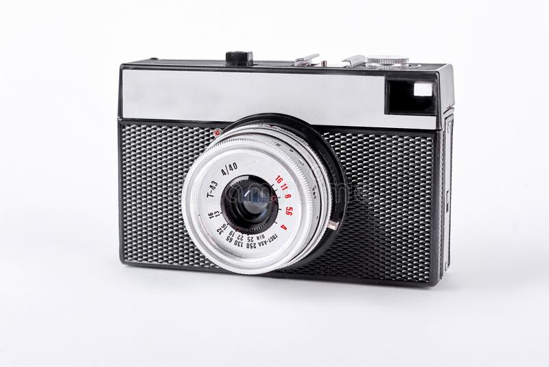 Negro y cámara retra de la plata foto de archivo libre de regalías