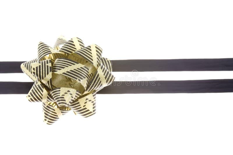 Negro y cinta del oro foto de archivo libre de regalías