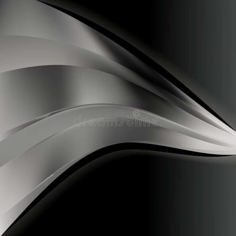 Negro y ejemplo de Grey Wave Business Background Vector stock de ilustración