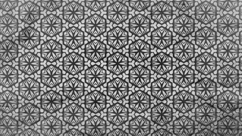 Negro y ejemplo elegante hermoso de Gray Geometric Ornament Pattern Wallpaper libre illustration
