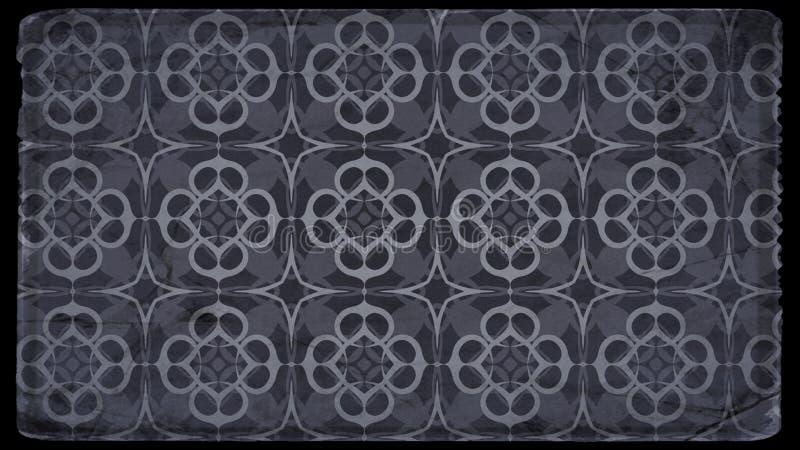 Negro y fondo de Grey Vintage Decorative Floral Pattern ilustración del vector