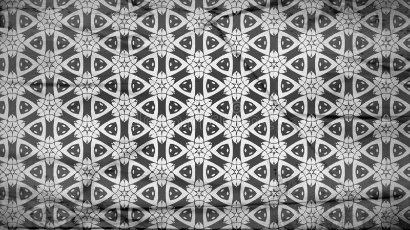 Negro y Gray Geometric Ornament Wallpaper Pattern libre illustration