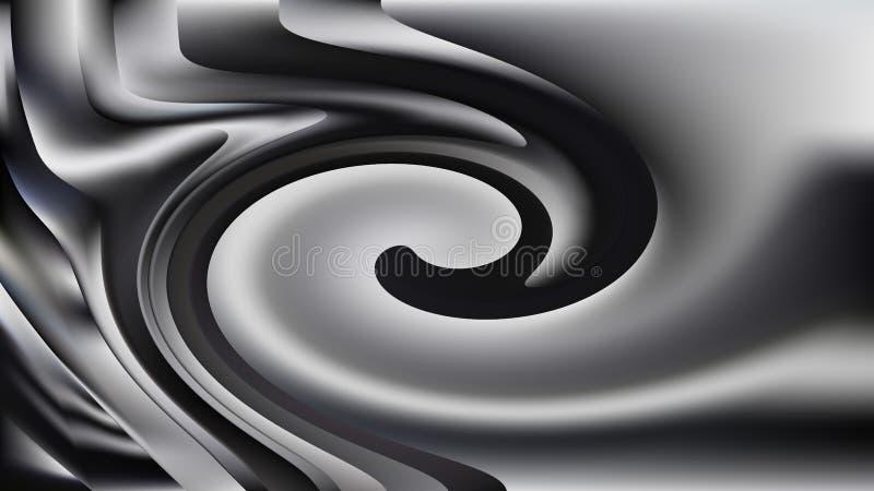 Negro y Grey Swirl Background stock de ilustración