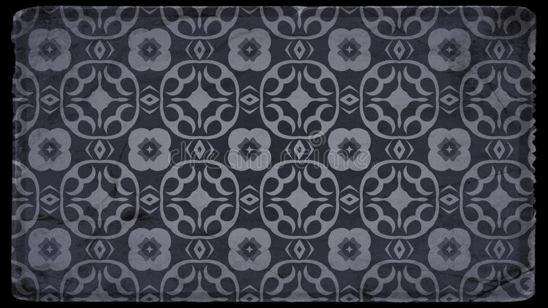 Negro y Grey Vintage Floral Wallpaper Background libre illustration