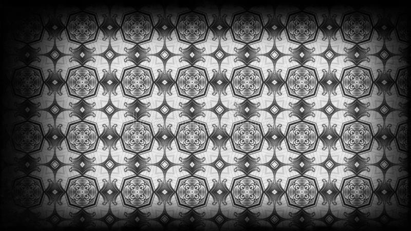 Negro y Grey Vintage Wallpaper Background stock de ilustración