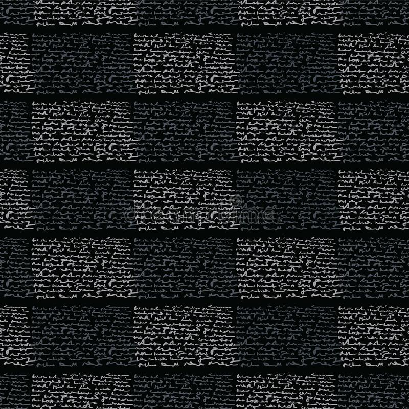 Negro y gris geométricos abstractos de la rejilla de la tipografía libre illustration