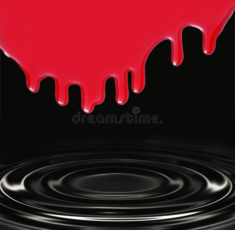 Negro y rojo stock de ilustración