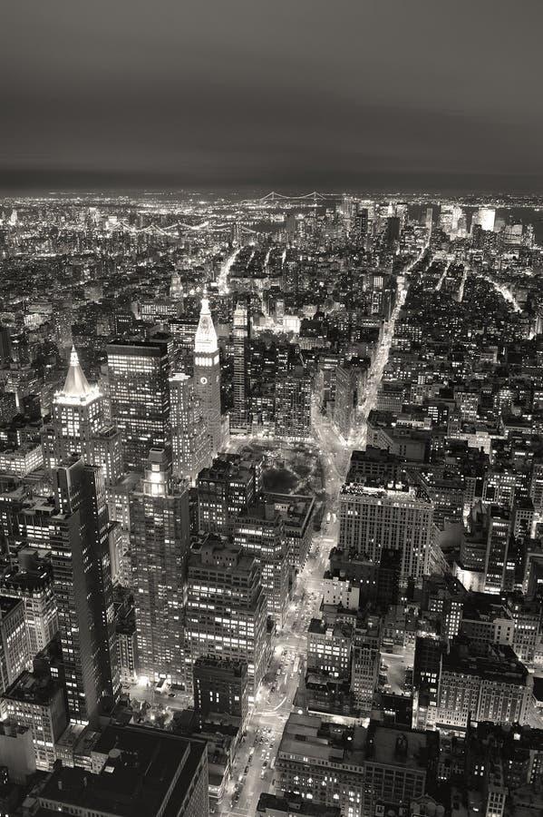 Negro y wh del horizonte de New York City Manhattan foto de archivo