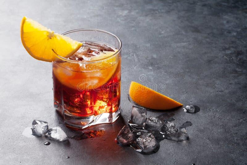 Negroni Cocktail stockbild
