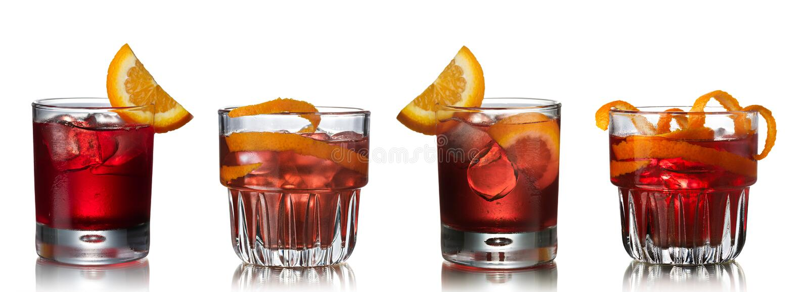 Negroni cocktails stock images