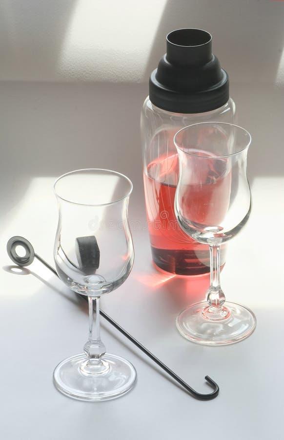 Negroni - Jogo Do Cocktail Fotografia de Stock