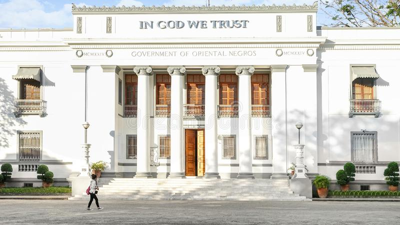 Negros orientalisk provinsiell Kapitolium royaltyfri foto