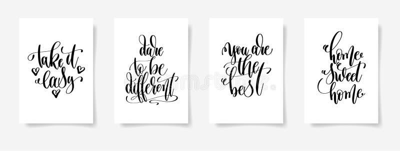 , Nehmen es leicht, Herausforderung, um unterschiedlich zu sein, Sie sind der beste, Hauptbonbon vektor abbildung