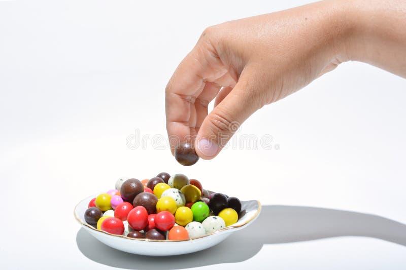Nehmen Sie die Schokolade stockbilder