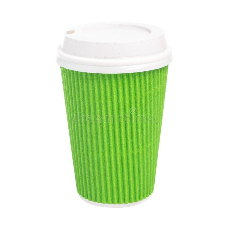 Nehmen Sie die Tasse Tee lokalisiert auf weißem Hintergrund heraus lizenzfreie stockfotos